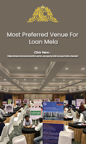Vendors and customers interacting at a loan mela conducted at one of the most preffered venues.