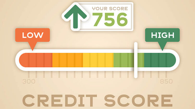Vector of A Credit Score Calculater Representing High Score.