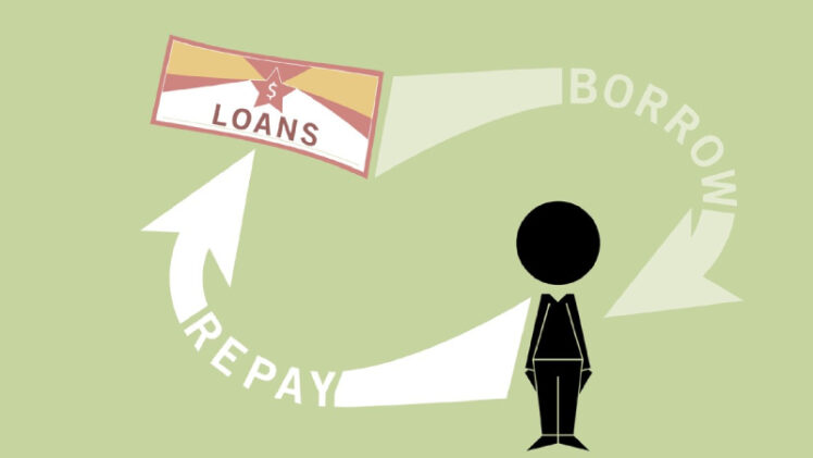 Vector Image of Loan Repayment Process.